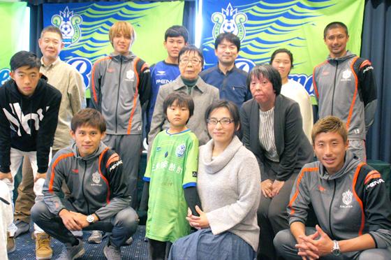 練習の合間を縫って懇親会に駆けつけてくださった高山選手、坪井選手、奈良輪選手、藤田(征)選手、ありがとうございました!