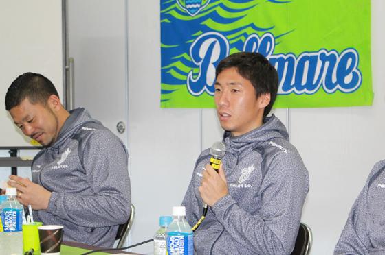 下田 北斗選手(22番)